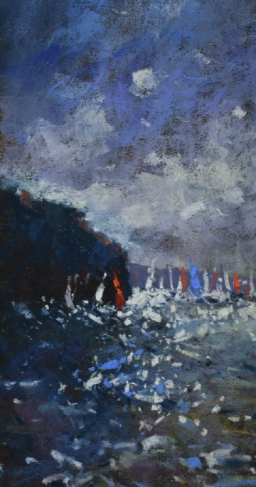 Tony Allain Original Pastel Painting Regatta Day